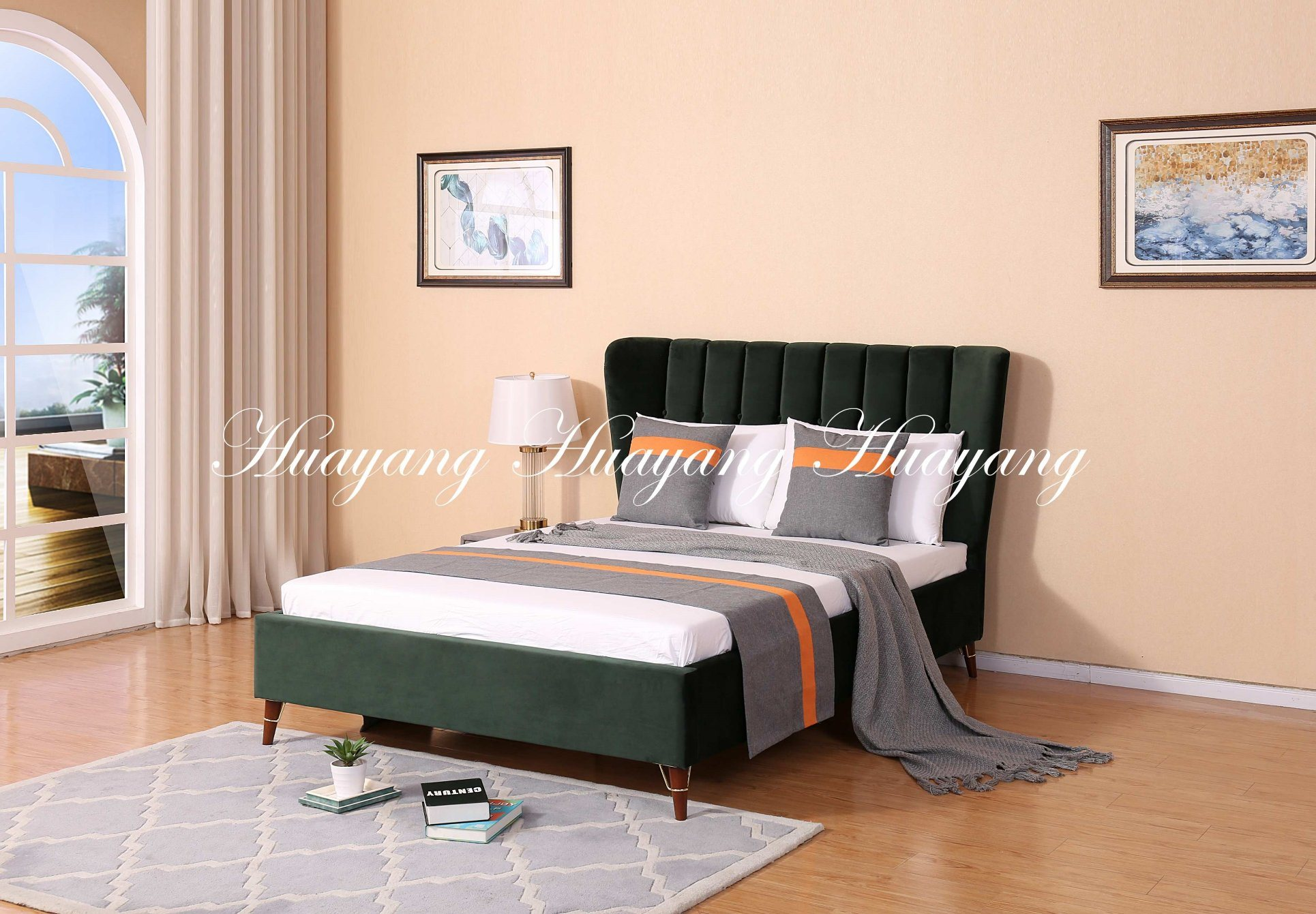 China King Bed Bedroom Bed Modern Luxury Upholstery Bed Furniture China Double Bed Bedroom Bed