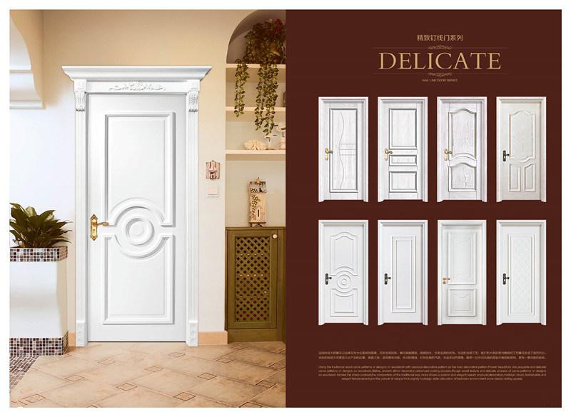 China Custom Apartment Environmental Exterior Entry Wooden Door Solid Wood Modern Front Doors