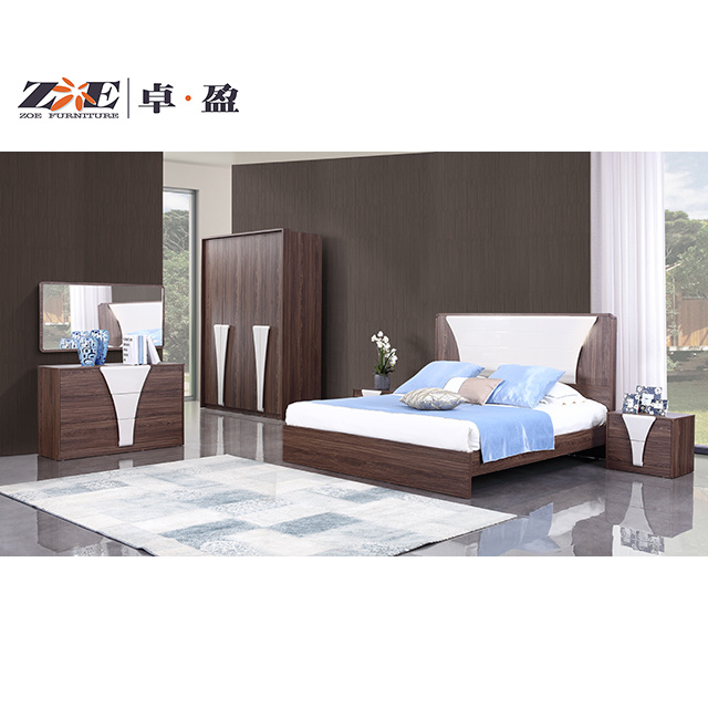 China Modern Wooden Double Bed Design Home Bedroom Set China Bedroom Bed Wooden Furniture