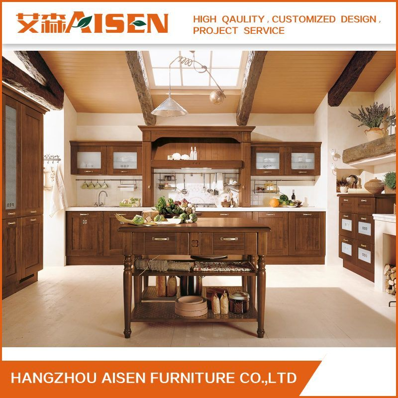 Classic Style Kitchen Furniture Solid Wood Kitchen Cabinets pictures & photos