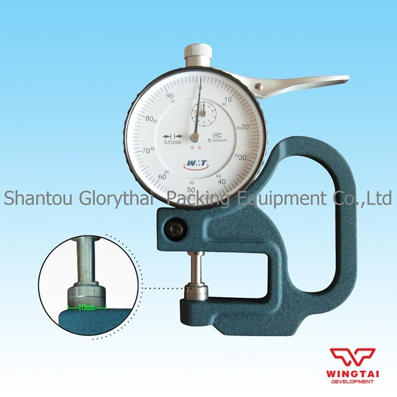 0-10mm Dial thickness Gauge leather cloth paper film Thickness meter 0.01 Blue