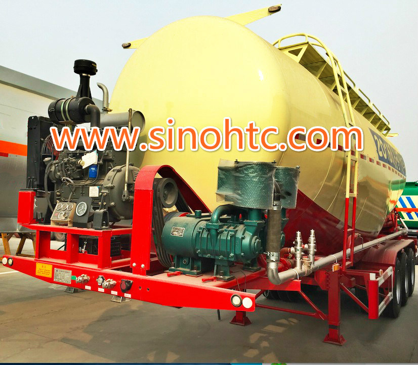 40-55cbm Bulk powder tank trailer / Cement Tank Trailer pictures & photos