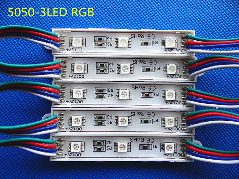SMD 5050 3LEDs RGB Waterproof Light LED Module