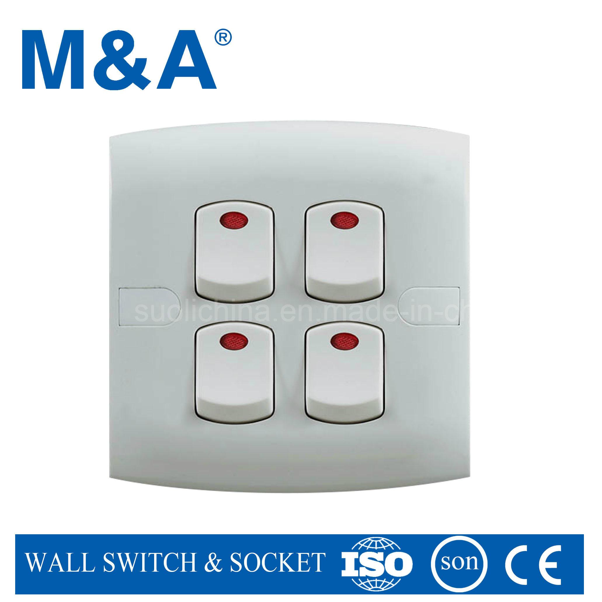 China Me Series 4 Gang 1 Way Switch W N Socket Controls