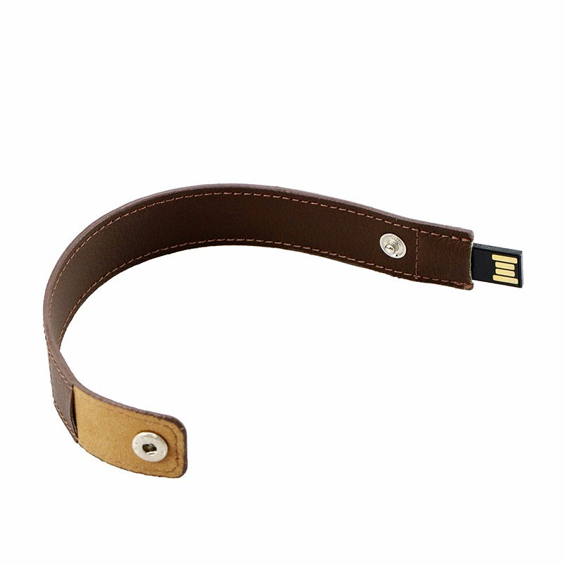 Full Capacity Flash Drive 64G Pen Drive Leather Wrist Band USB Flash 16g 32g Bracelet USB pictures & photos