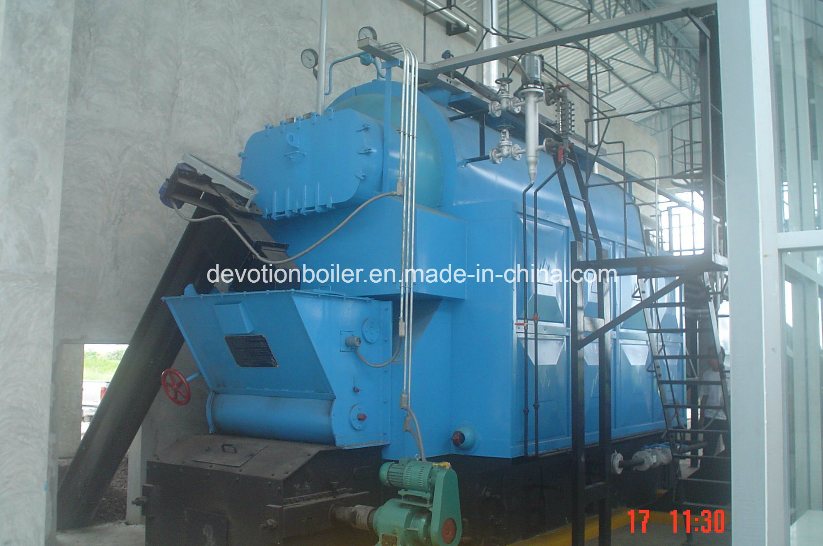 China Moving Grate 1-10 T/H Coal Fire Steam Boiler - China Moving ...