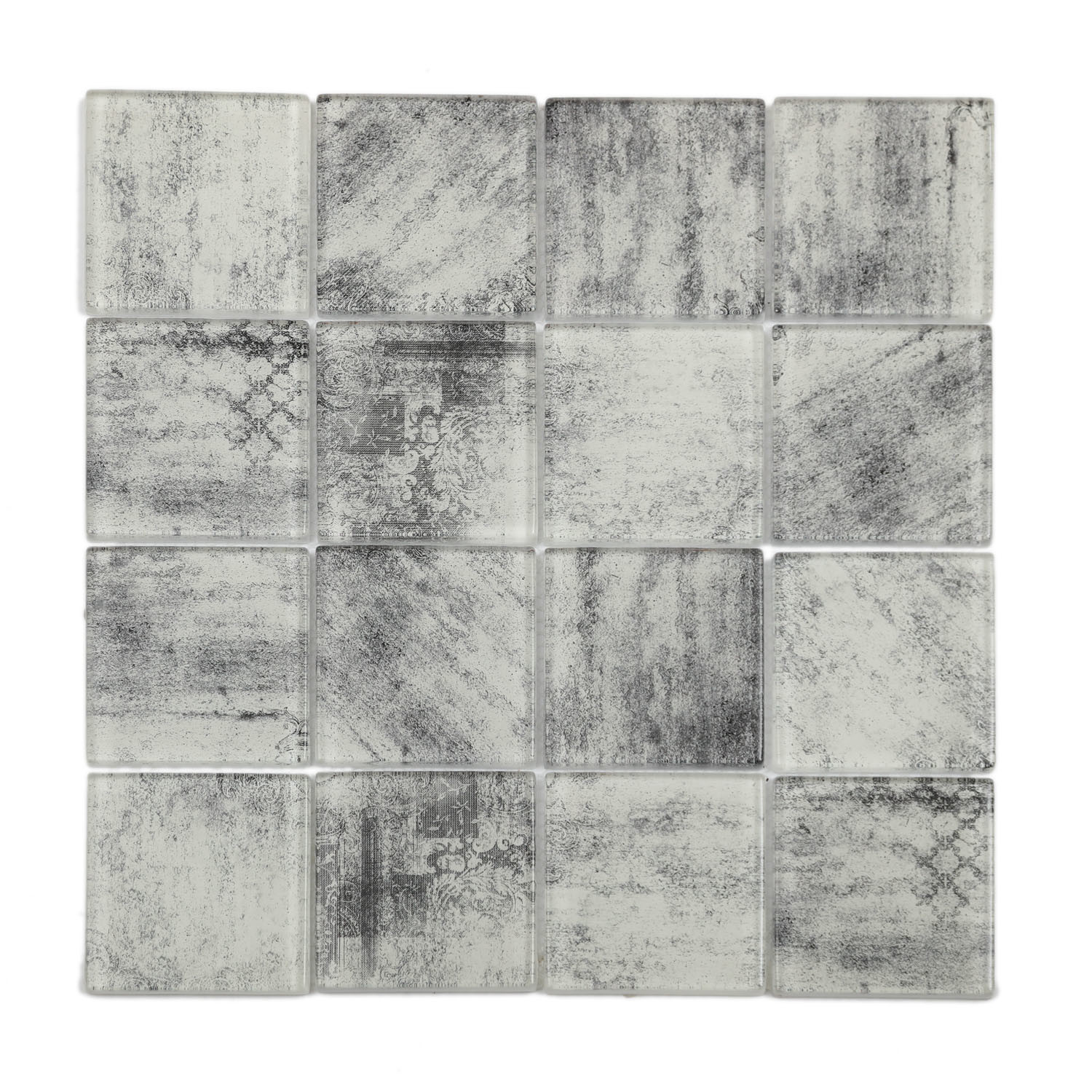 - China Hot Sell Cement Design Glass Mosaic Tile For Kitchen