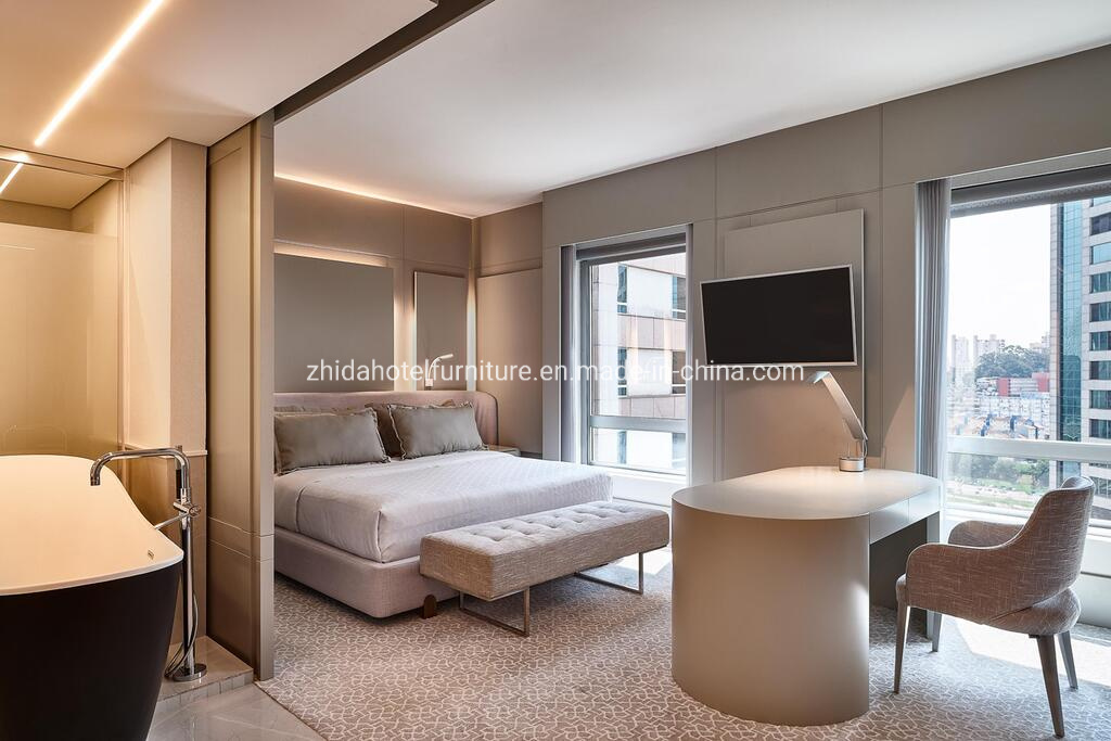 China Modern Bedroom White Plywood Bed Designs Hotel Bedroom Furniture Bedroom Set Photos Pictures Made In China Com