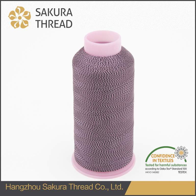 Customized Multicolored Polyester Thread with Oeko-Tex100 1 Class pictures & photos