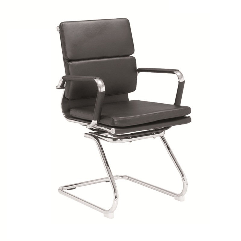Steel Frame Chair/Low Back Soft Padding Visitor Chair /Office Chair