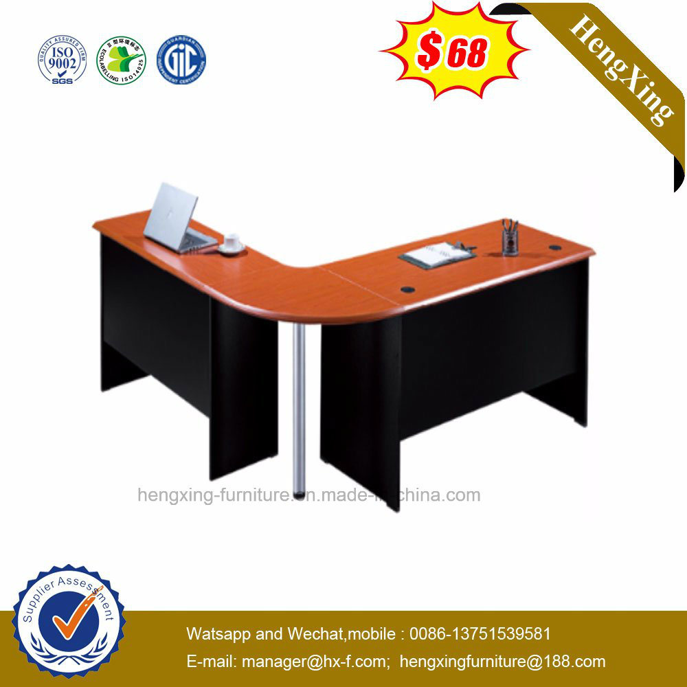 China L Shape Rosse Color Wooden Furniture Office Executive Desk Hx 5118 Table
