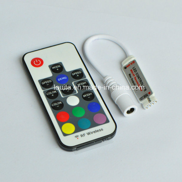 DC5-24V Mini RGB LED Controller with RF Remote pictures & photos