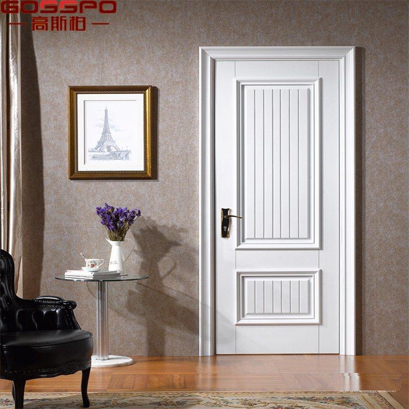 China Custom Simple Teak Wood Room White Front Door (GSP2-110 ...