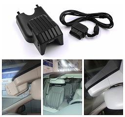 [Hot Item] WiFi Car DVR Camera Dash Cam No Screen with Multi-Language APP  and Aluminium Alloy Inner Shell+OBD2 Adapter