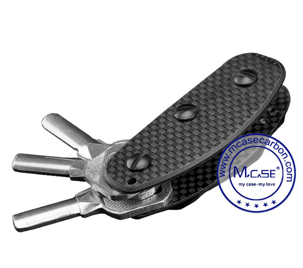 2016 Hot Products Carbon Micro Fiber Key Holder Folder Keychain
