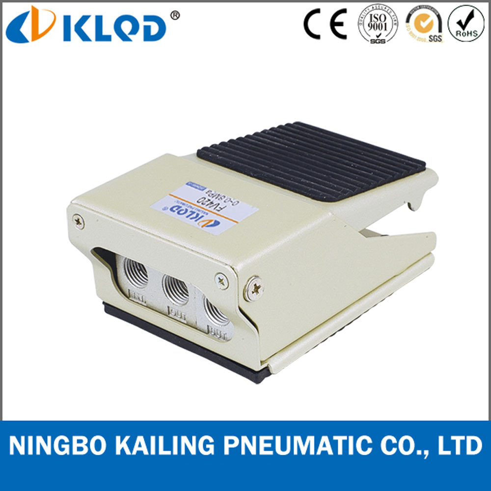China 5/2 Way Thread Connection Alloy Material Foot Pedal Valve ...