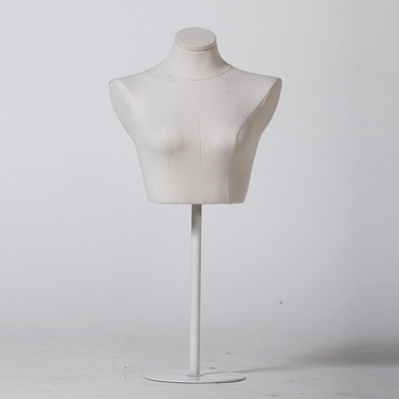 Lingerie Display Female Bust Mannequin with Metal Base