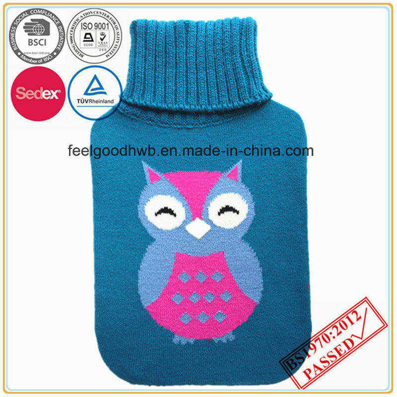 Lovely Owl Knitted Hot Water Bottle