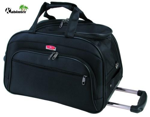 Soft Travel Luggage Duffle Bag Two Wheels