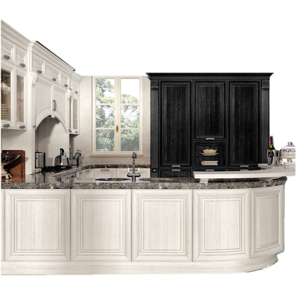 Hot Item Wood French Kitchen Design Apartment Kitchen Cabinet In High Quality