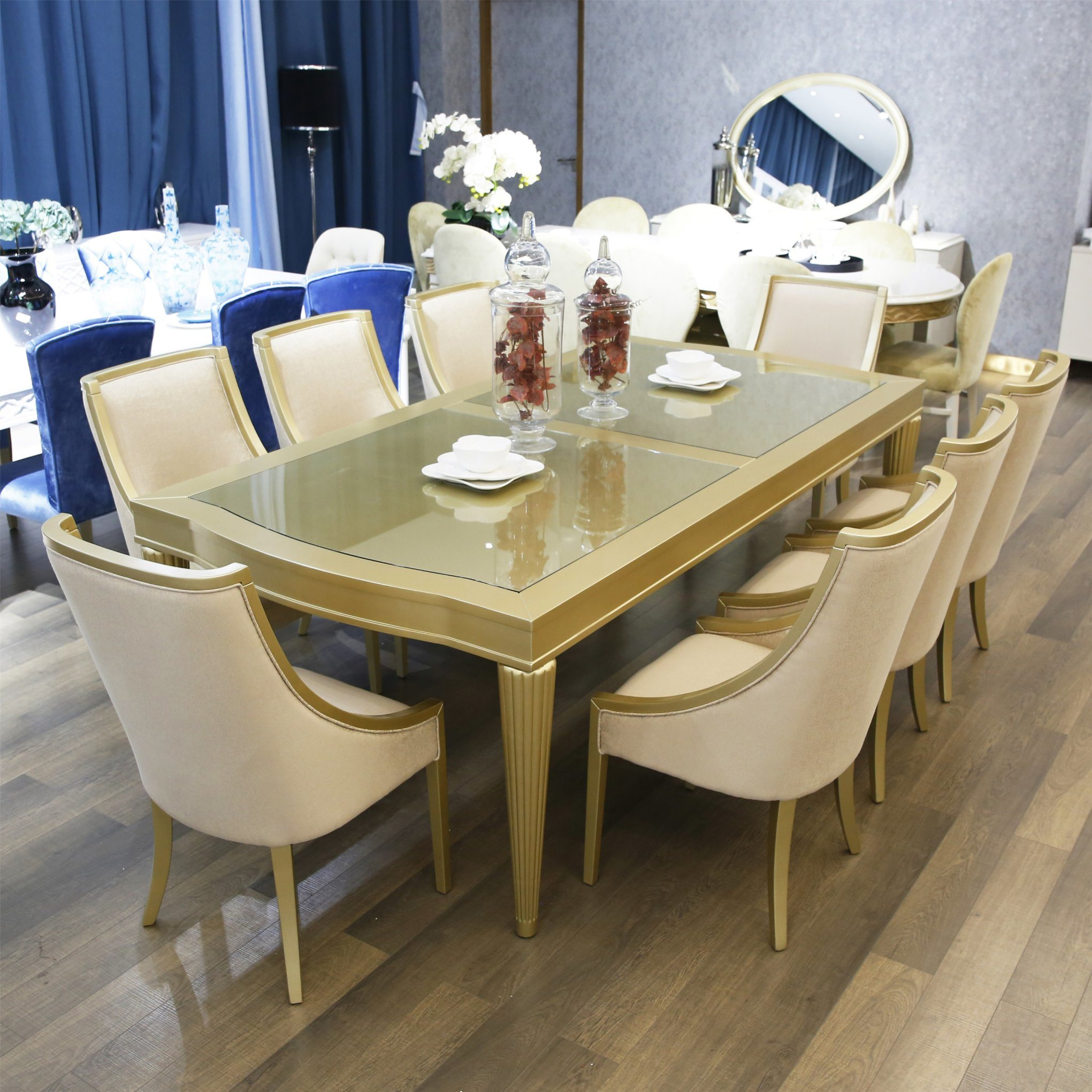 Modern Wooden Glass Top Dining Table And Chairs For Home Use China Dining Table Set Glass Dining Furniture Made In China Com