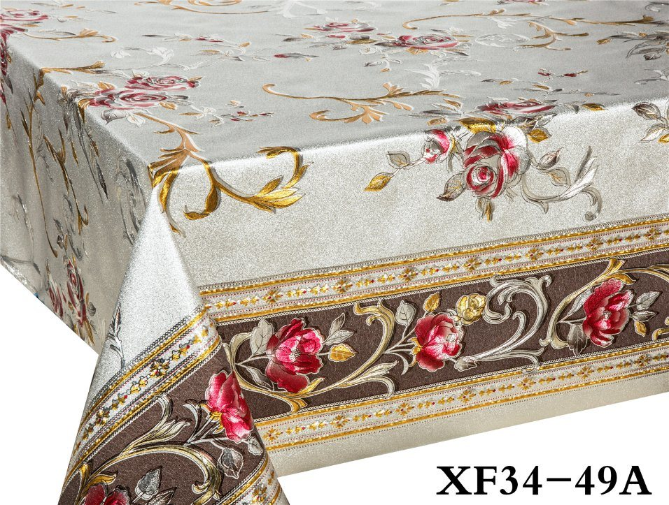China Xhm Factory Wholesale Customized Turkish Plastic Pvc Tablecloth Disposable Tablecloth Roll China Tablecover Factory And Muslim Price