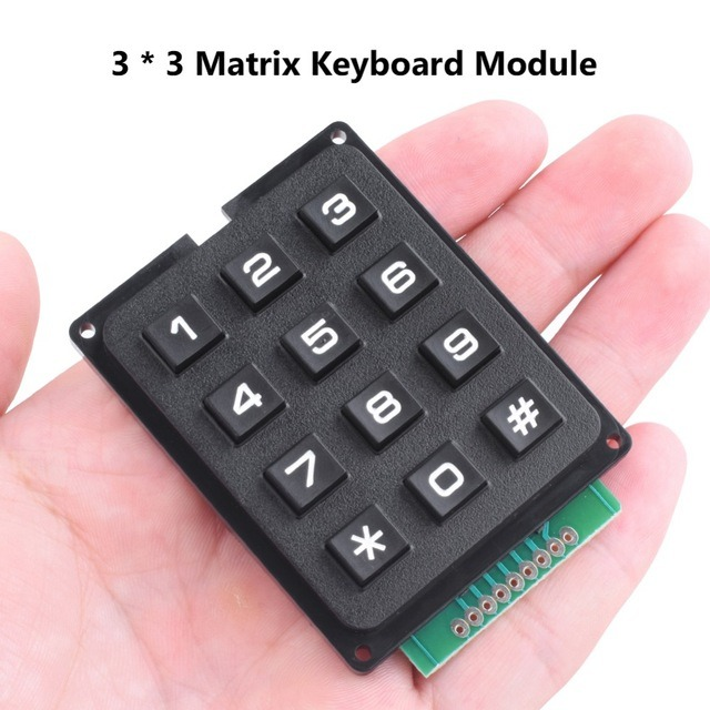 [Hot Item] 3X4 Matrix Keyboard Keypad Module Use Key Pic AVR Stamp Sml 3 *4  Plastic Keys Switch