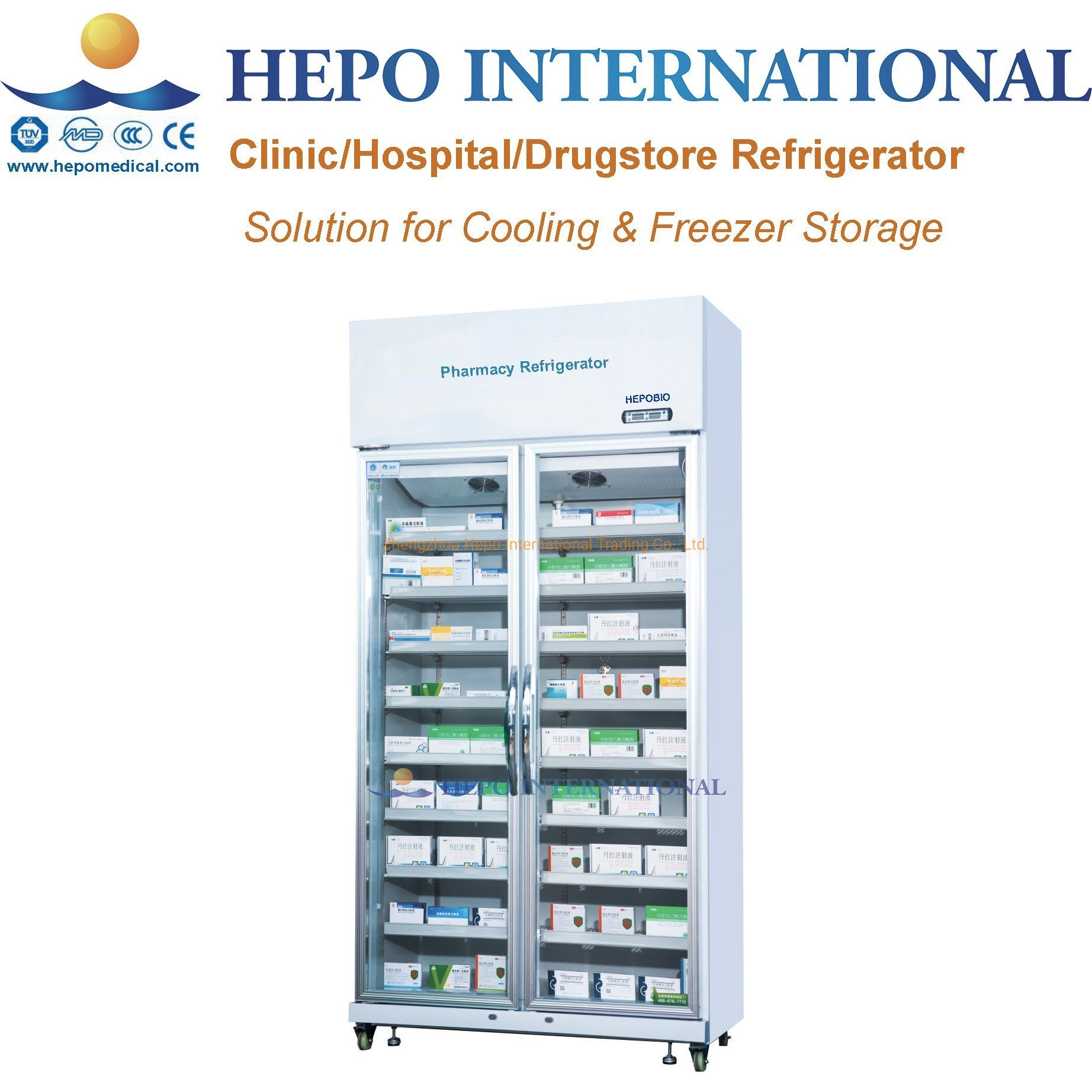 [Hot Item] Solution for Clinic Drugstore Medical Cooling Storage  Refrigerator with OEM
