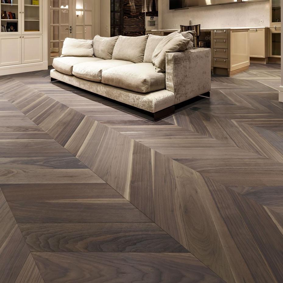 [Hot Item] Bright Color and High Quality Oak Chevron Parquet Wood Flooring