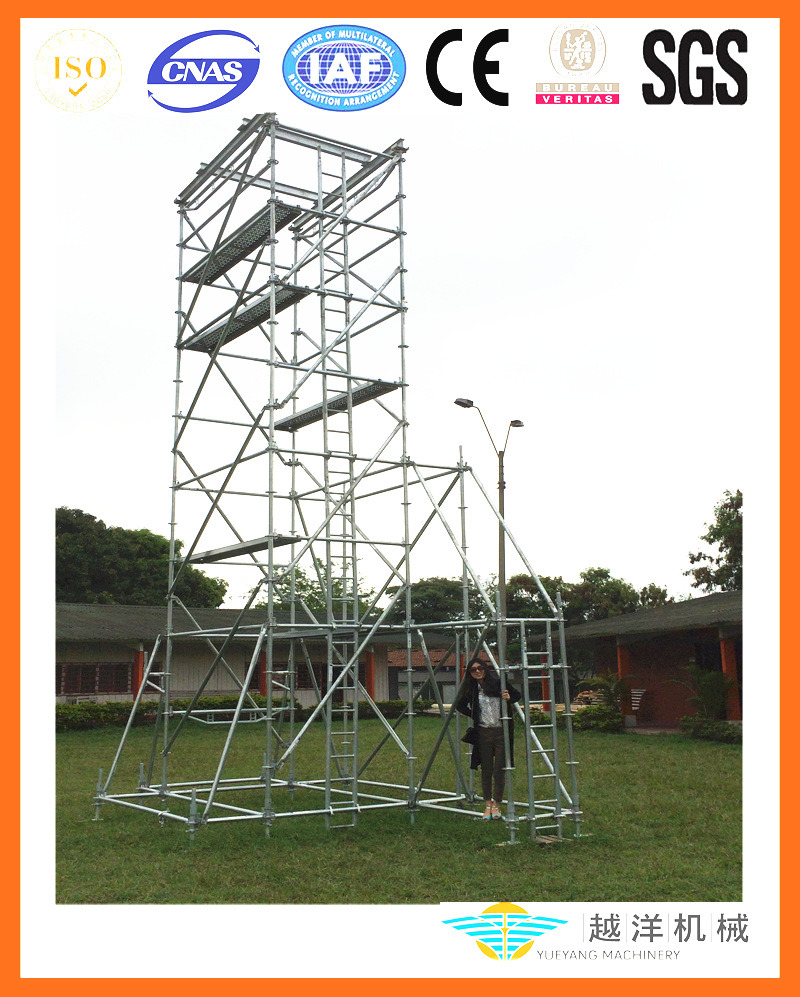 [Hot Item] as/Nz Approved Aluminium Ringlock Scaffolding Tower with Top  Quality