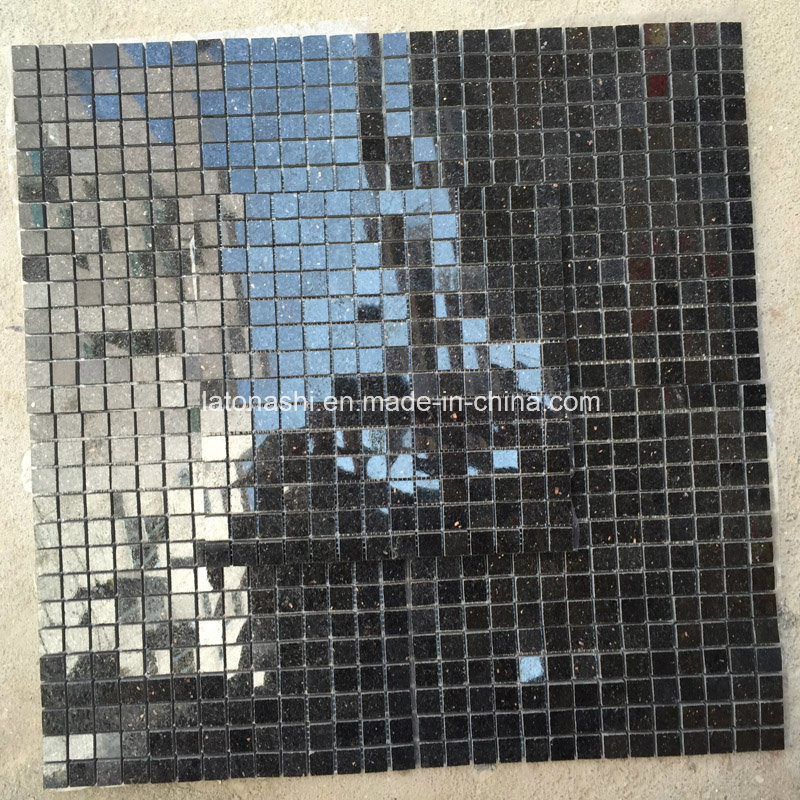 China Polished Star Galaxy Black Galaxy Granite Stone Mosaic Tile