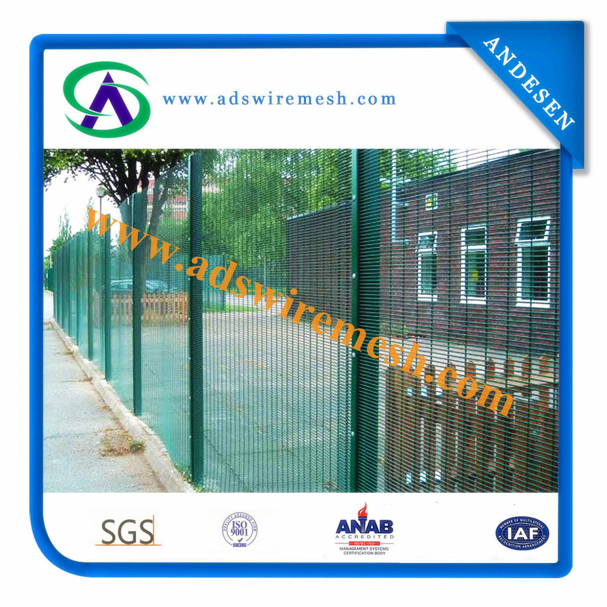 China 358 Anti-Climb Fence/ Safety Fence/ Welded Wire Mesh Fence ...