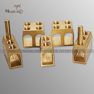 Single / Double Wiring Hole Brass Connector Cable Connector (MLIE-BTL009)