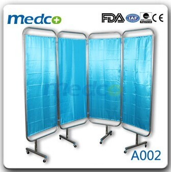 Four Section Folding Hospital Screen Curtain A002