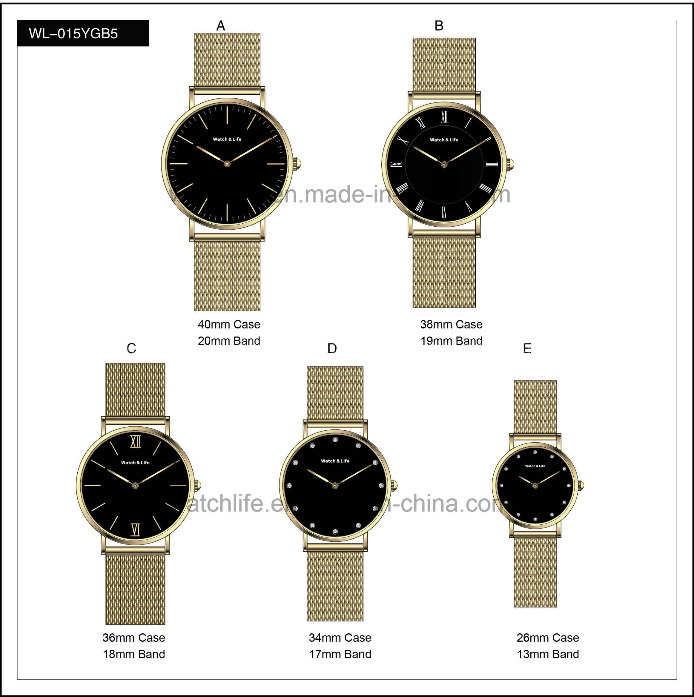 Promotion Watches Mesh Band Fashion Men′s Lady Simple Wrist Watch