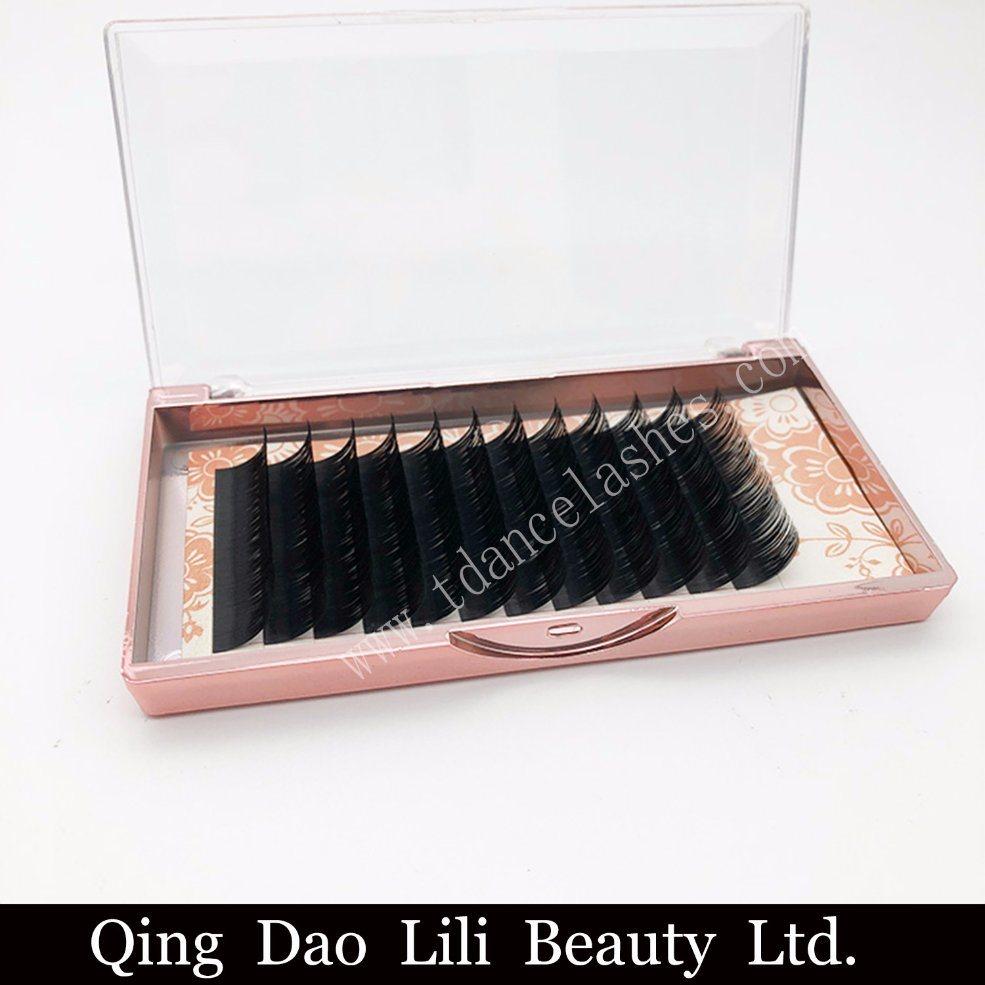 China Korea PBT Eyelash Individual Faux Mink Pony Lash Extension