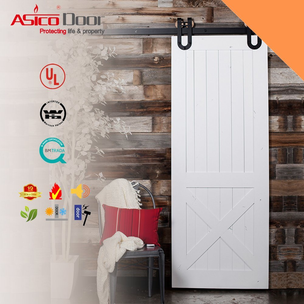 China Clical Z Brace Unfinished Interior Barn Door Slab With