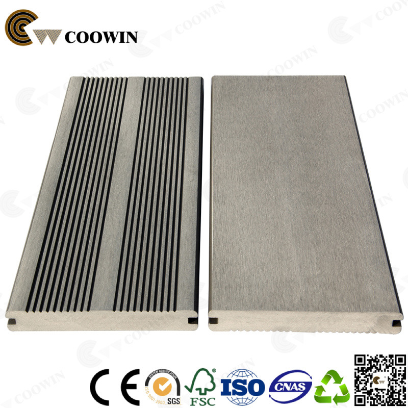China Gray Antiseptic Wood Plastic Composite Decking Waterproof