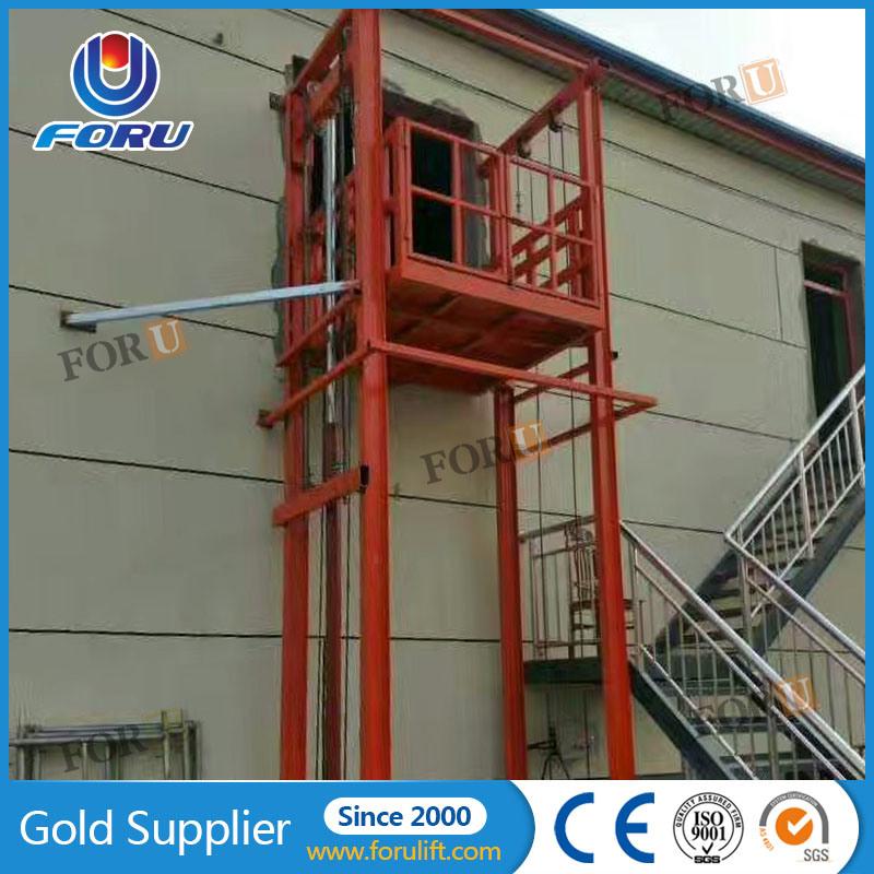 [Hot Item] 2 5ton 5m Foru Portable Hydraulic Electric Material Lift Elevator