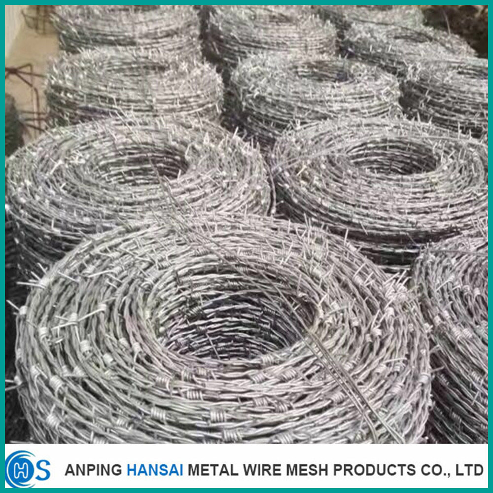 China Malleable Stainless 9.0mm PC Steel Barbed Wire for Metal ...