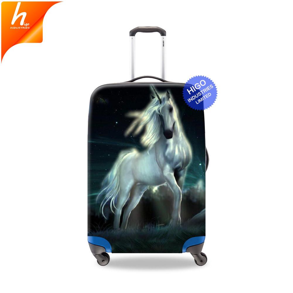 Have An Inquiring Mind Unicorn Travel Suitcase Protector Zipper Suitcase Cover Elastic