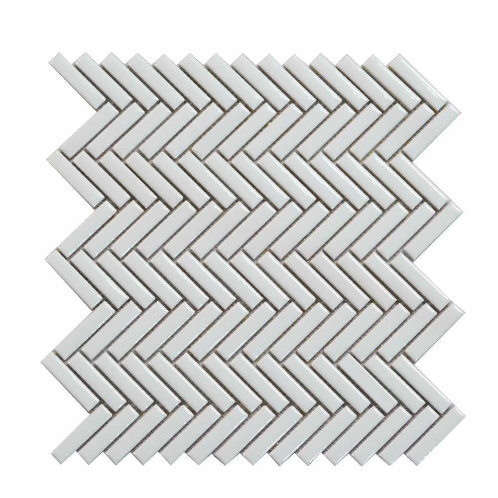 China back splash chevron 305x305mm asian white ceramic mosaic tiles back splash chevron 305x305mm asian white ceramic mosaic tiles dailygadgetfo Gallery