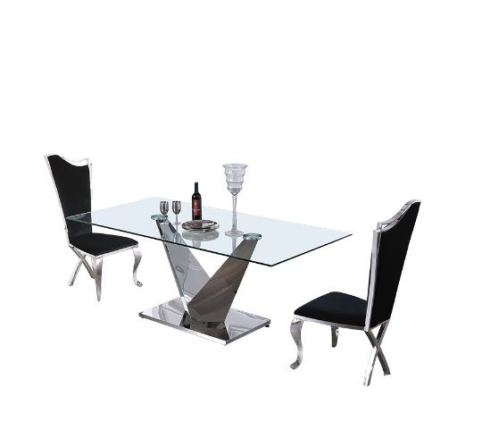 italian glass furniture. Modern Glass Stainless Steel Chrome Base China Italian Furniture N