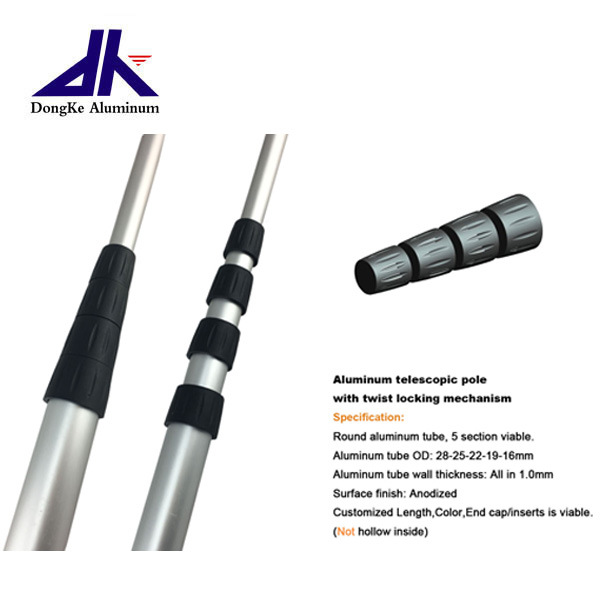 China Aluminum Telescopic Pole with Twist Lock - China Aluminum