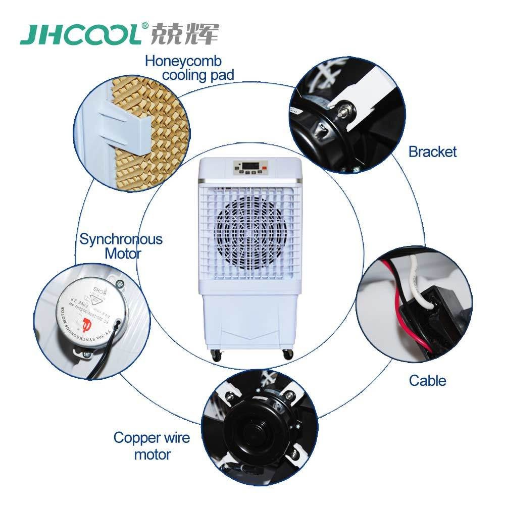 [Hot Item] Commercial Home Portable Outdoor Cooler Water Mist Fan with Ce