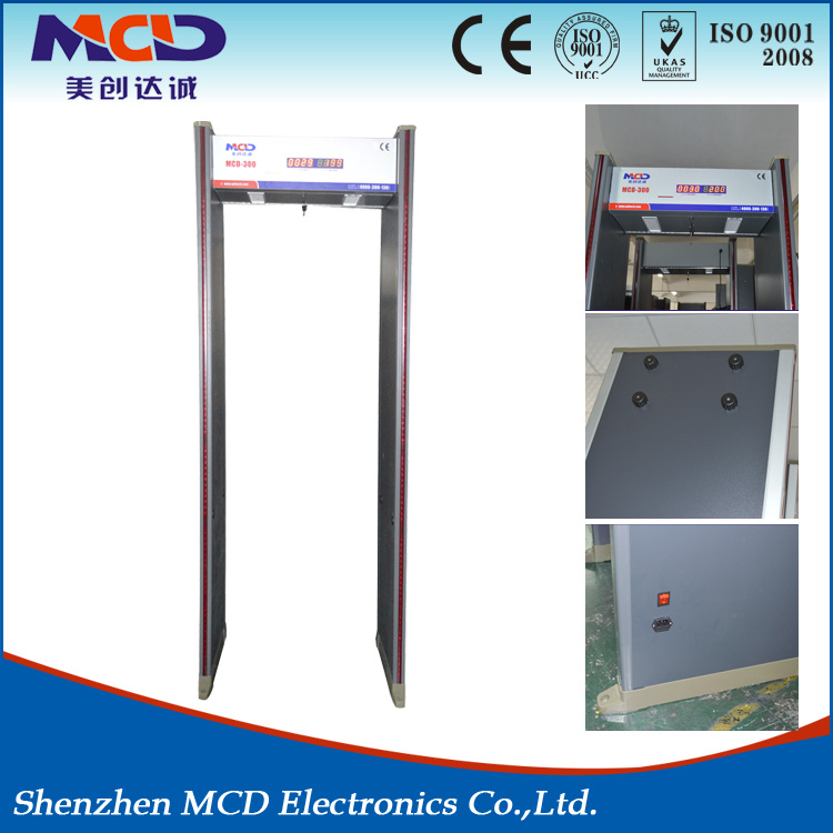 China 6 Detection Zones Door Frame Metal Detector Widely Used in ...