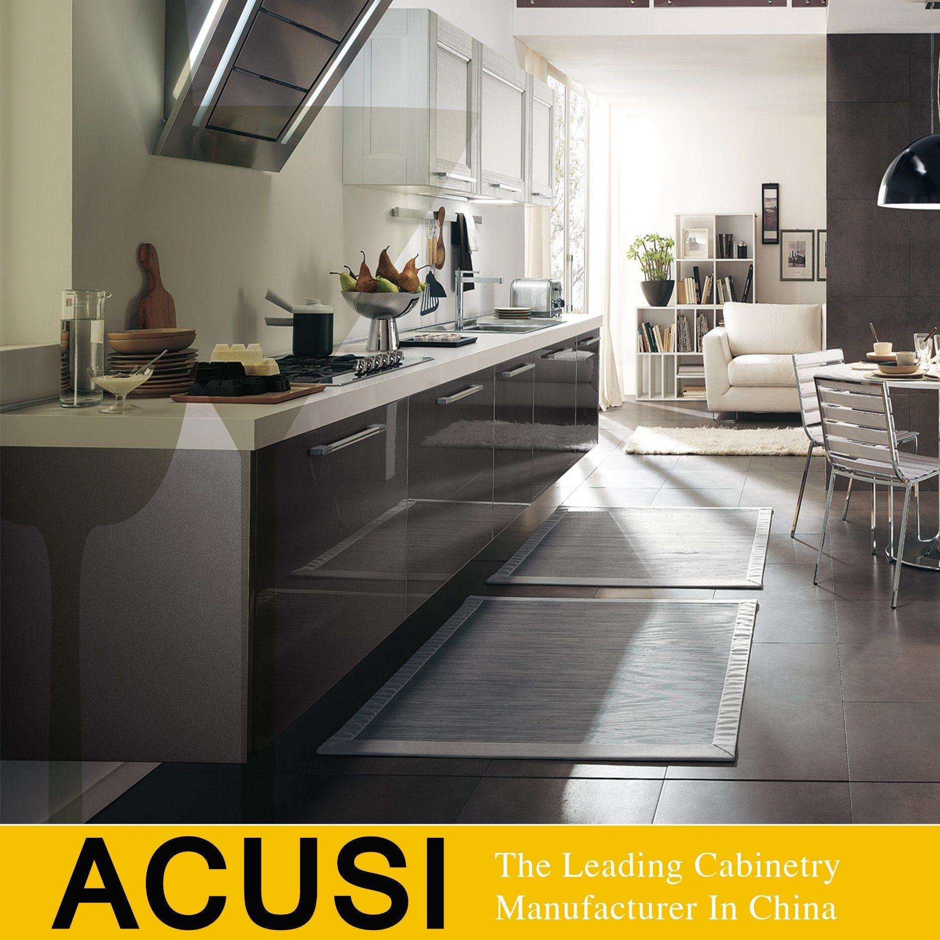 China Australian Style White Quartz Stone Lacquer Kitchen Cabinet
