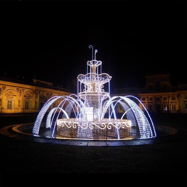 Hot Item Outdoor Waterfall White Color Fountain Motif Lights For Festival Christmas Illumination Ornament Light