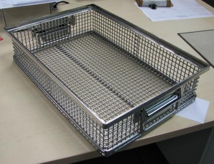 Stainless Steel Wire Mesh Cleaning Basket pictures & photos
