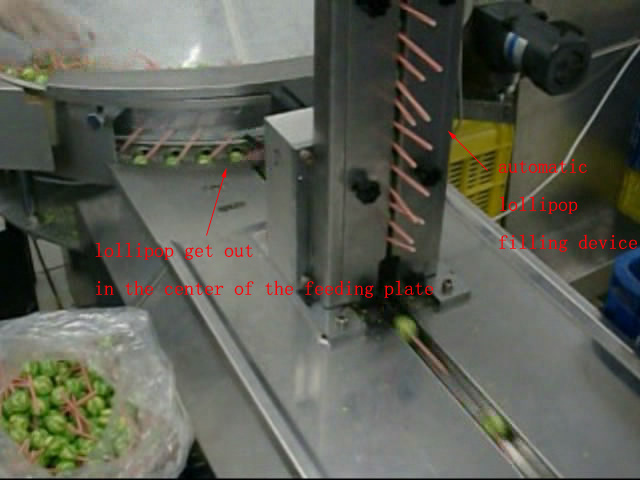 Candy Machine for Lollipop Packing
